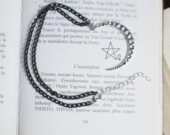 """moon heart"" necklace - mystical - Moon witch - magic - heart - pagan - wicca - choker - magic - moonchild"