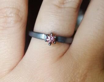 0.23ct pink diamond ring