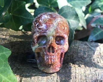 Red Agate Skull Crystal Skull
