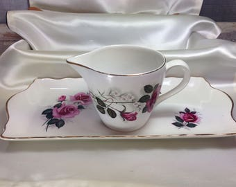1930s 'Old Foley' Cake Sandwich Plate & Milk Jug