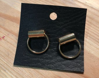 Gold Punk Grunge Ring Earring