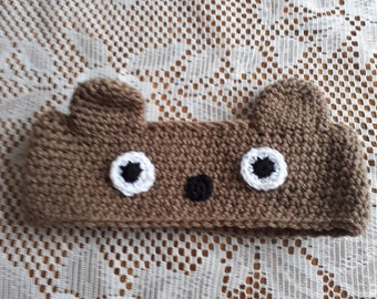 Child's bear earwarmer