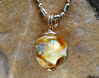 Ashes in Glass Petite Galaxy Memorial Necklace, Pet Memorial, Cremation Jewelry