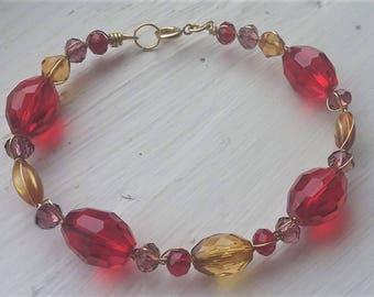 Faceted Autumn Bracelet