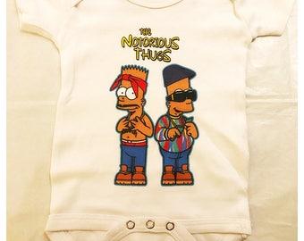 Black Bart Onesie - TUPAC and BIGGIE