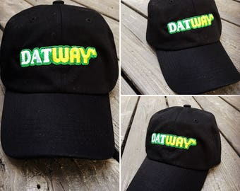 Dat Way Embroidered Baseball Dad Hat Strapback Humor Dat Hats Women's Hats Men's Hats