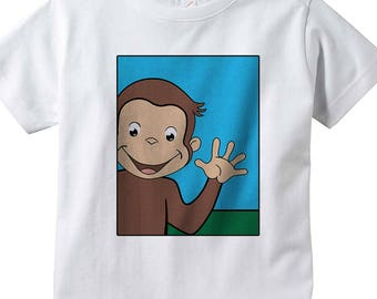 Curious george shirt. Curious george shirt toddler. Toddler clothing.