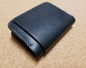 Handmade Horween Dublin leather bi-fold wallet