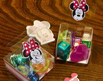 Mickey & Minnie Party Favor Boxes - Disney Themed Clear Boxes