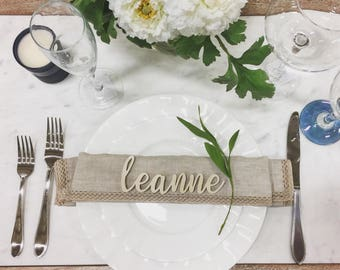 Personalized Mini Name Place Setting / Hand-cut name setting / Individual place setting / mini name