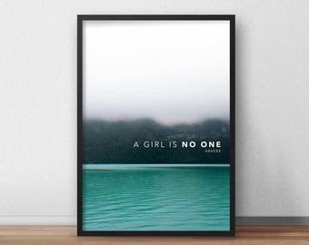 A Girl is No One Print, Arya Stark Print, A Girl has No Name Print, Arya Stark Wall Art, Game of Thrones Wall Art, Braavos Printable Art