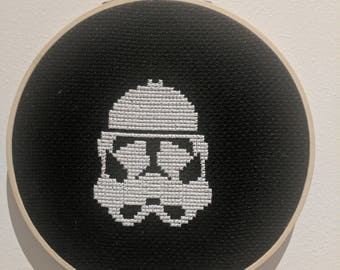 Modern Cross Stitch, completed item - StormTrooper