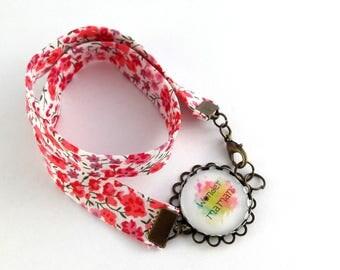 Bracelet double liberty motif wonder maman