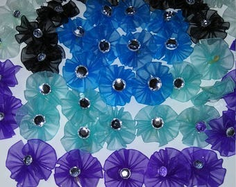 50 round dog grooming bows