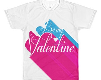 For Him – Be My Valentine 3D All-Over Printed T-Shirt | Valentine's Day | Art for Lovers | Romance | Men's Gift Tee