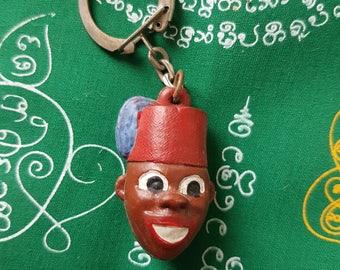 Vintage French Keychain Key Ring Banania Chocolat