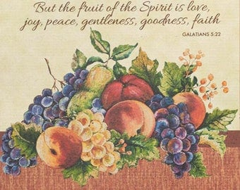 The Fruit Of The Spirit Cross Stitch Pattern***LOOK***