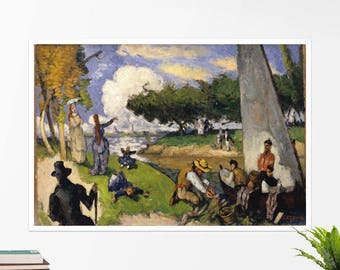 "Paul Cezanne, ""The Fishermen"". Art poster, art print, rolled canvas, art canvas, wall art, wall decor"