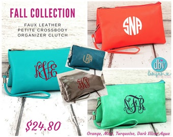 Crossbody Organizer Clutch w/ Monogram