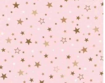 Stars - pink - fabric - cosy cotton