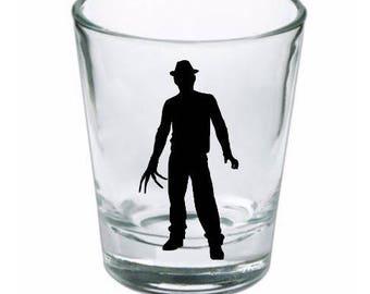 Freddy Krueger Shot Glass Nightmare on Elm Street Horror Halloween Drinking Bar Gift for Him Her Merch Massacre