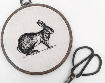 "5"" Hare Embroidery Hoop"