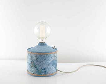 Industrial lamp blue printed