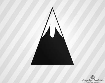 Mountain Peak - Dxf,  Svg,  Eps,  Rld, RDWorks, Pdf, Png and AI Print Files, Silhouette, Digital Cut, Vector File, Svg File