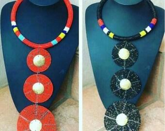 Kenyan Masai african beaded women necklaces,multicolour necklaces