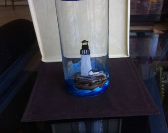 Lighthouse Glass Vase