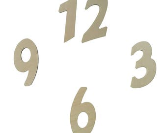Wooden base numbers for watches and DIY