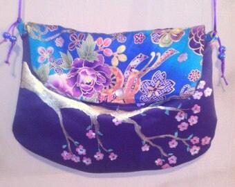 original, deep purple shoulder bag