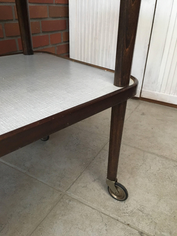 Lkd Kiel vintage tea cart coffee table trolley 60s midcentury