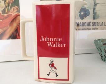 Johnnie Walker whisky ceramic pitcher. Vintage