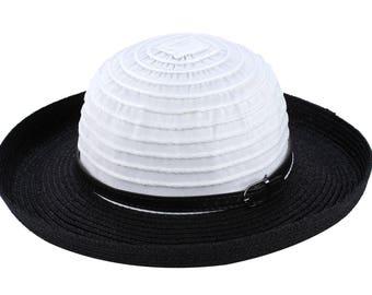 Sun Styles Women's Paper-Poly Bowler Style Hat AH-034