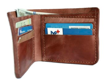 Mens leather wallet (9 colors) personalized wallet mens wallet custom wallet minimalist wallet bifold wallet slim wallet front pocket wallet