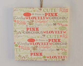 Princess,Wood Sign,Baby Shower Gift,Nursery Wall Art,Nursery Wall Decor,Baby Girl Gift,Wood Wall Hanging,Framed Wall Art,Gift For Girl,Gifts