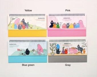 BARBAPAPA Table Scheduler / Weekly planner / 4type [yellow, pink, blue green, gray] / 02-d