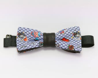 Bow tie, faux leather and cotton vintage tattoos: pinup tattoo