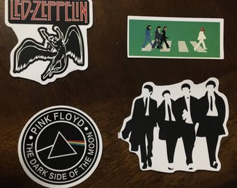 Classic Rock Band Stickers