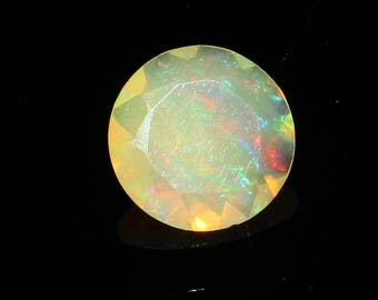 Natural Ethiopian Welo Fire Opal Cutting Gemstone Round Shape AAA+++ High Grade Quality 1.40 Cts. Size 10 MM Code MGJ 183