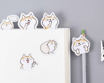 Shiba Inu Stickers - Cute Planner Stickers - Kawaii Decorative Stickers - Bullet Journal - Scrapbooking