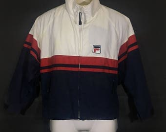 Off 10%!! Vintage Fila Windbreaker