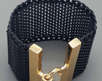 Black Mesh Metal Bracelet