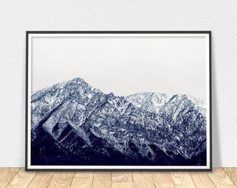 Mountain Print - Printable Art, Wall Art, Mountain Photography, Landscape Photo Art, Scandinavian Art, Mountain Art Print, Nature Print