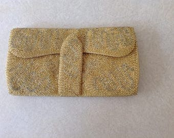 Beaded Evening Bag In Gold By Richere