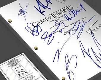 Game of Thrones Pilot Episode TV Script Screenplay Signed Autograph Reprint Emilia Clarke, Kit Harington, Peter Dinklage, Maisie Williams