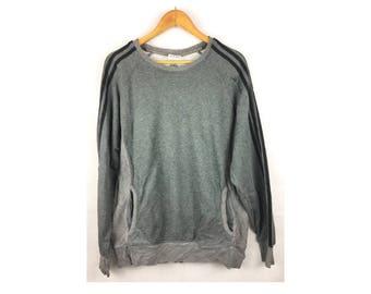 ADIDAS Long Sleeve Sweatshirt With Signature Founder of Adidas Large Size