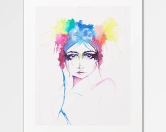 Iris - Fine Art Print of Original Watercolors