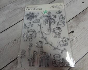 "Autumn Leaves ""Mindy's Zoo"" stamp set"